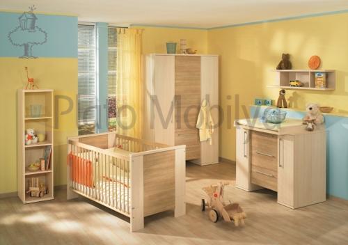ahşap kaplama bebek odası 005