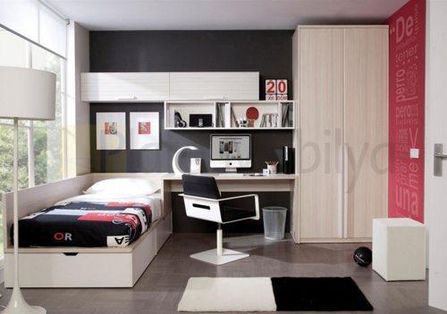 ahşap kaplama genç odası go 022