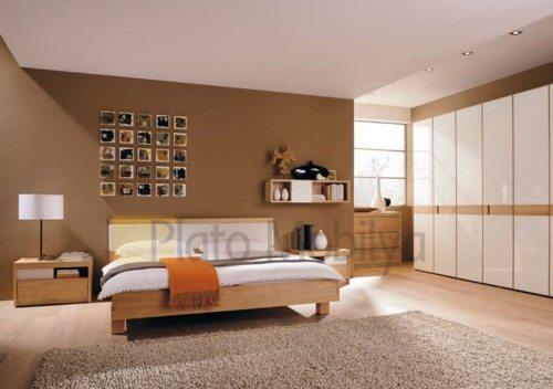 cilalı ahşap yatak odası