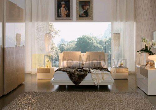 krem lake yatak odası takımı