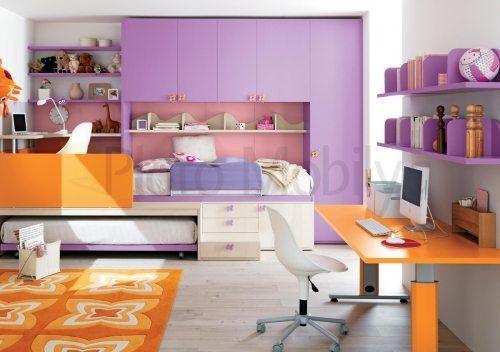 modern yavru yatakli genç odası go 008