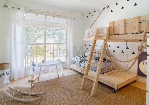 naturel ahşap çocuk odası
