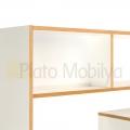 beyaz tasarım kitaplık model KM-022