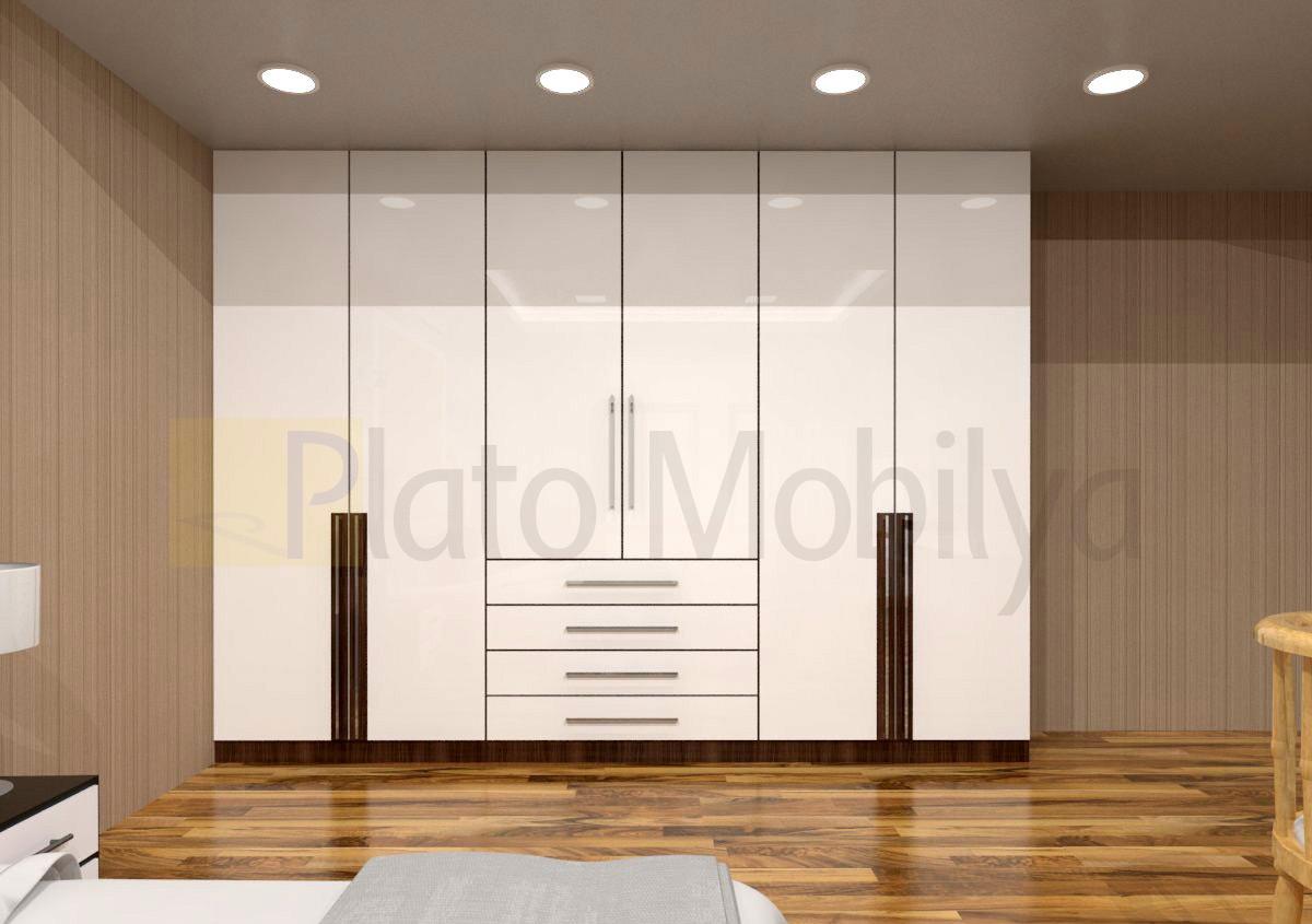 Modern Wood Bedroom Furniture D 252 Zenli Olmak İsteyenlere Modern Beyaz Lake Gardrop Gm 017