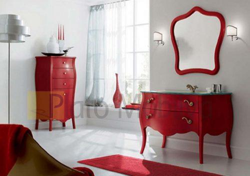 Kırmızı Klasik Banyo Dolabı BD-003