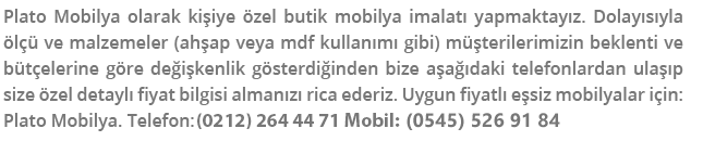 mobilya siparişi