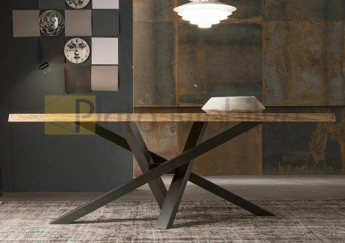 Demir Ayaklı Ahşap Yemek Masası YM-013