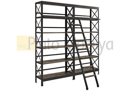 Merdivenli Metal Kitaplık KM-040