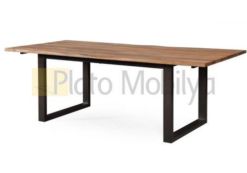 Metal Ayaklı Ahşap Yemek Masası YM-017