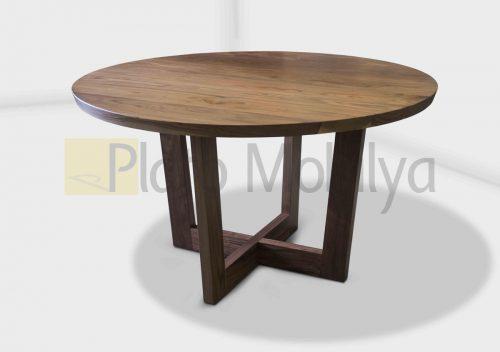 Yuvarlak Ahşap Yemek Masası YM-018