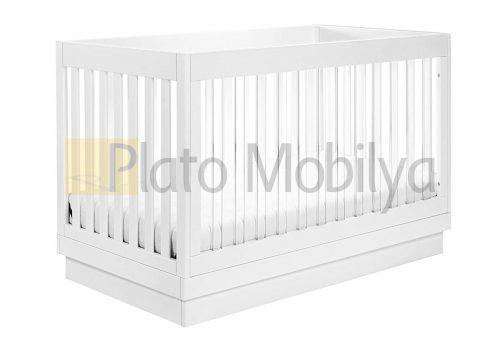 Şeffaf Parmaklıklı Bebek Beşiği BB-065