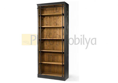 Rustik Çam Kitaplık KM-045