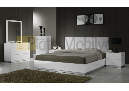 Modern Beyaz Yatak Odası YOT-038