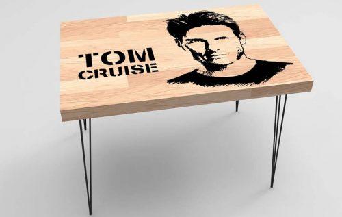 Tom Cruise Baskılı Sehpa Modeli BS-020