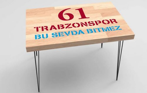 Trabzonspor Baskılı Taraftar Sehpa BS-014